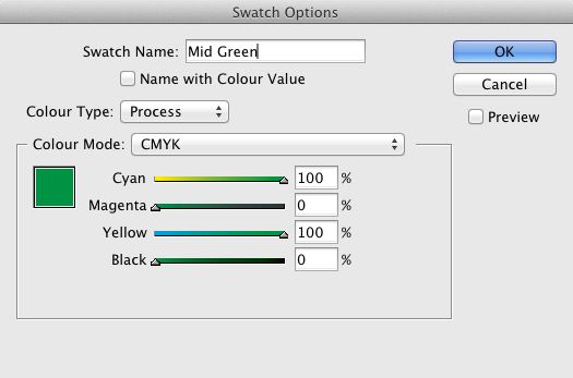 InDesign Create Swatch
